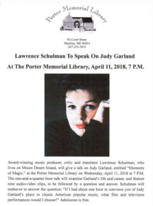 """Moments of Magic"" A lecture on the life and career of Judy Garland"