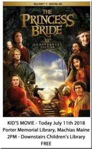 Kids Movie at the Library! The Princess Bride - 2pm downstairs