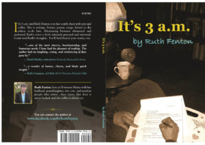 "Ruth Fenton talks about her new book ""It's 3 a.m."" 5pm Porter Memorial Library"